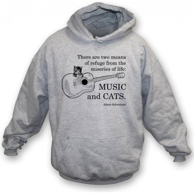 Music And Cats Kids Hooded Sweatshirt