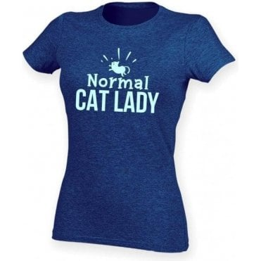 Normal Cat Lady Womens Slim Fit T-Shirt