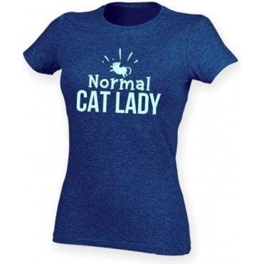 Normal Cat Lady Womens Slim Fit T-Shirt