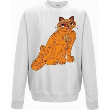 Orange Cat (As Worn By Anni-Frid Lyngstad, ABBA) Sweatshirt