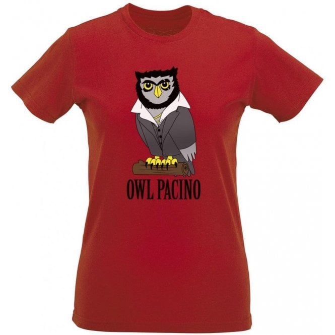 Owl Pacino Women's Slim Fit T-Shirt