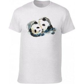 Pandas Watercolour Kids T-Shirt