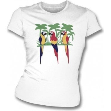 Parrots (As Worn By Freddie Mercury, Queen) Womens Slim Fit T-Shirt