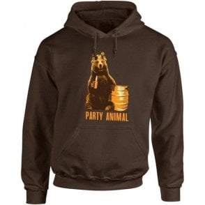 Party Animal Bear Hooded Sweatshirt