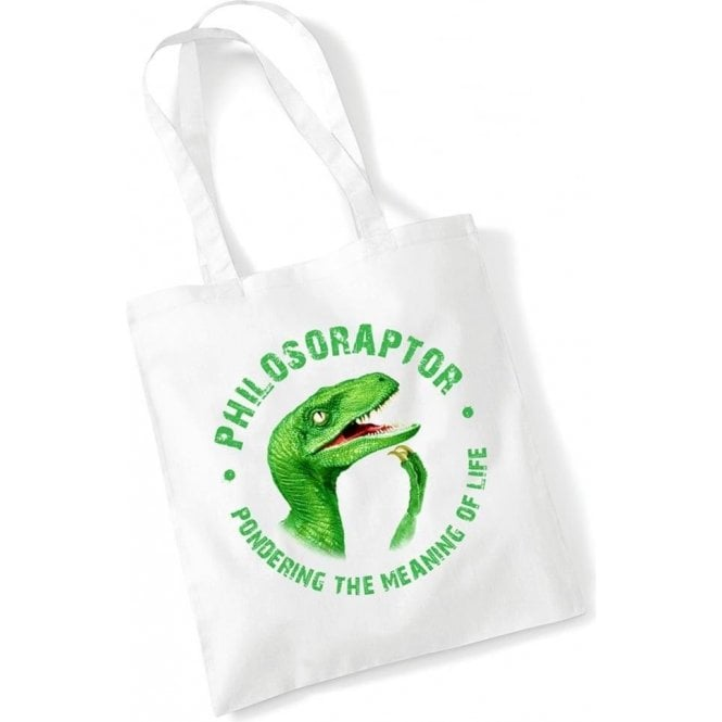 Philosoraptor Long Handled Tote Bag