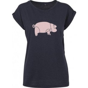 Pig (As Worn By David Gilmour) Womens Extended Shoulder T-Shirt