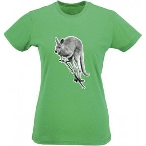 Pogo Kangaroo Womens Slim Fit T-Shirt