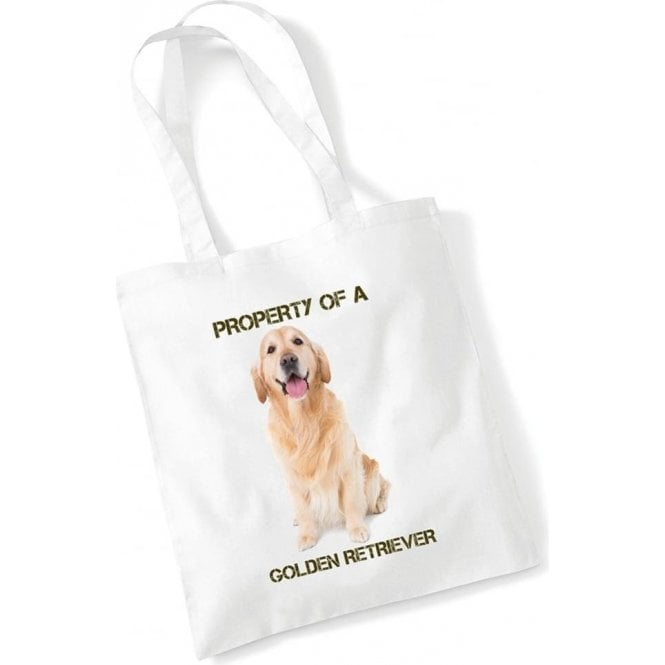 Property Of A Golden Retriever Long Handled Tote Bag