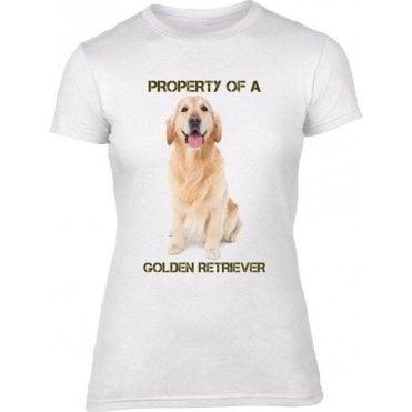 Property of a Golden Retriever Womens Slim Fit T-Shirt