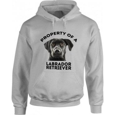 Property Of A Labrador Retriever (Grey) Hooded Sweatshirt