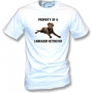 Property Of A Labrador Retriever (White) Kids T-Shirt