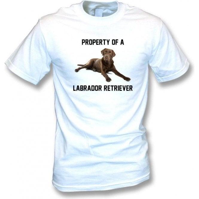 Property Of A Labrador Retriever (White) T-Shirt