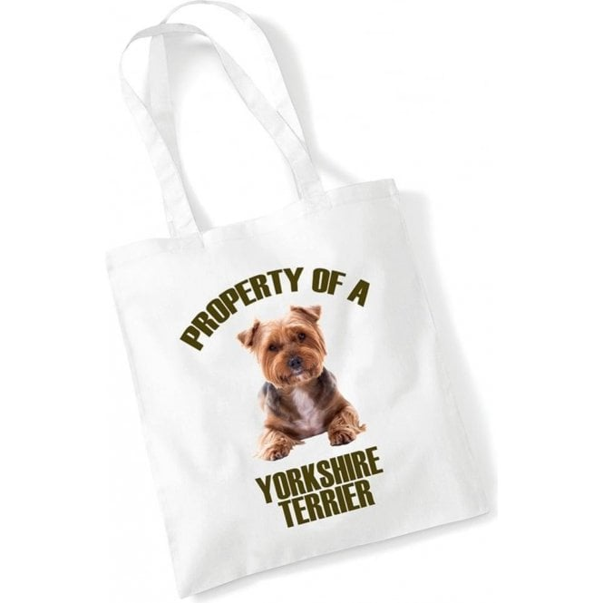 Property Of A Yorkshire Terrier Long Handled Tote Bag