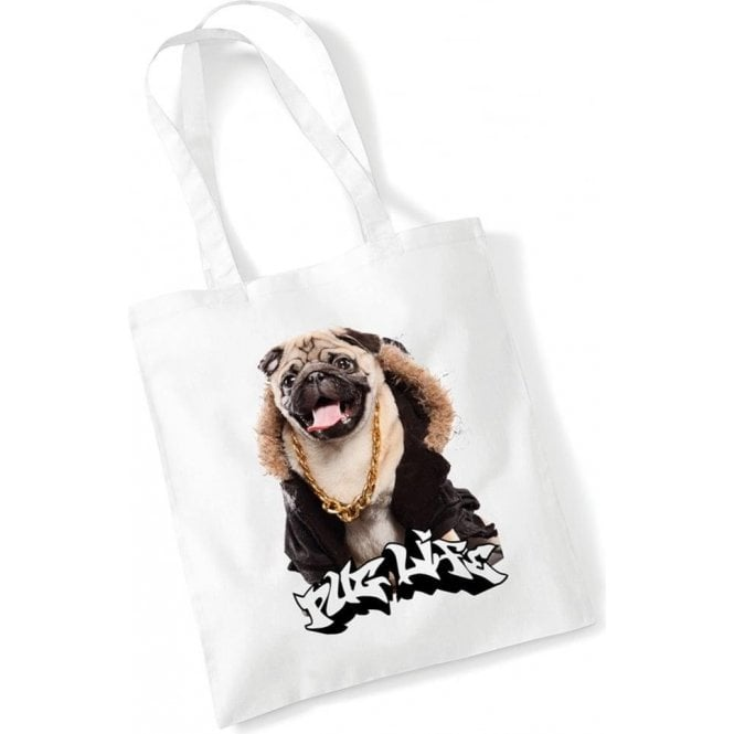 Pug Life Long Handled Tote Bag