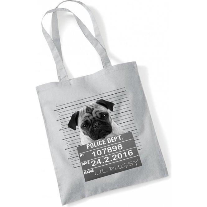 Pug Shot Long Handled Tote Bag