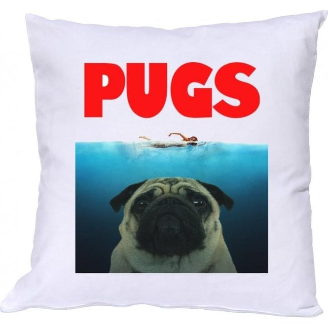 PUGS (JAWS Parody) Cushion