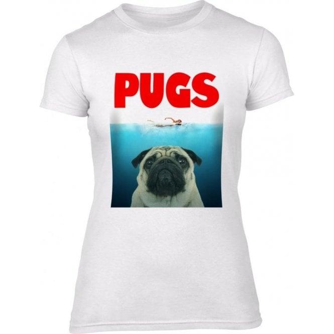 PUGS (JAWS Parody) Womens Slim Fit T-Shirt