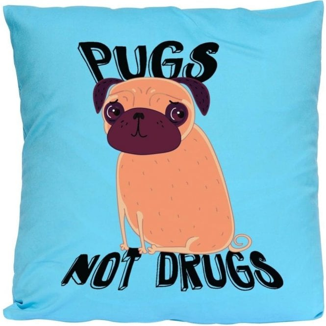 Pugs Not Drugs Cushion