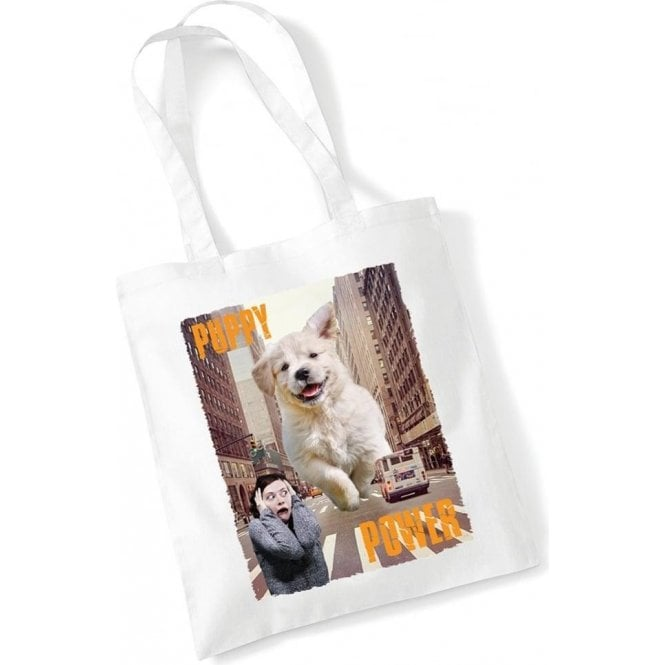Puppy Power Long Handled Tote Bag
