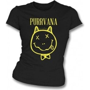 Purrvana Womens Slim Fit T-Shirt