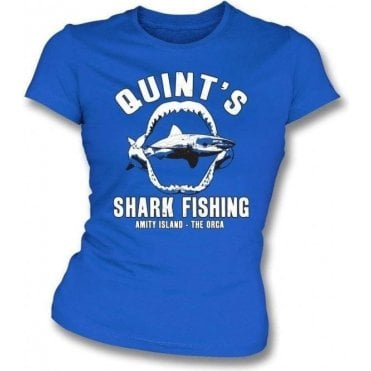 Quint's Shark Fishing Womens Slim Fit T-Shirt