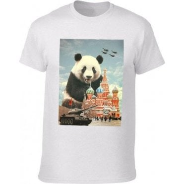 Red Square Panda Kids T-Shirt