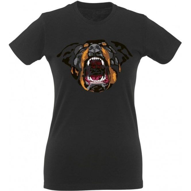 Rottweiler Face Women's Slim Fit T-Shirt