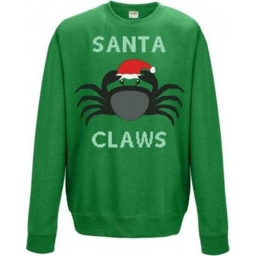 Santa Claws (Crab) Kids Sweatshirt