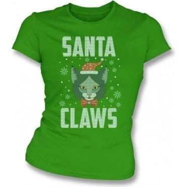 Santa Claws Womens Slim Fit T-Shirt
