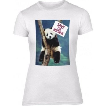 Save The Humans Womens Slim Fit T-Shirt