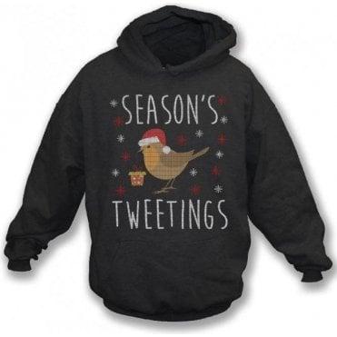 Season's Tweetings Kids Hooded Sweatshirt