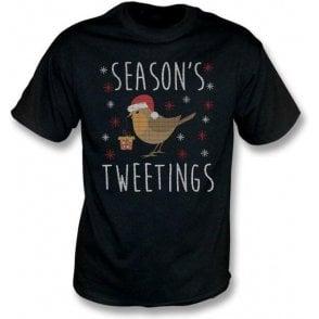Season's Tweetings Kids T-Shirt