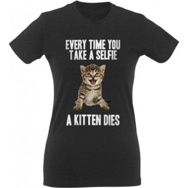 Selfie Kitten Women's Slim Fit T-Shirt