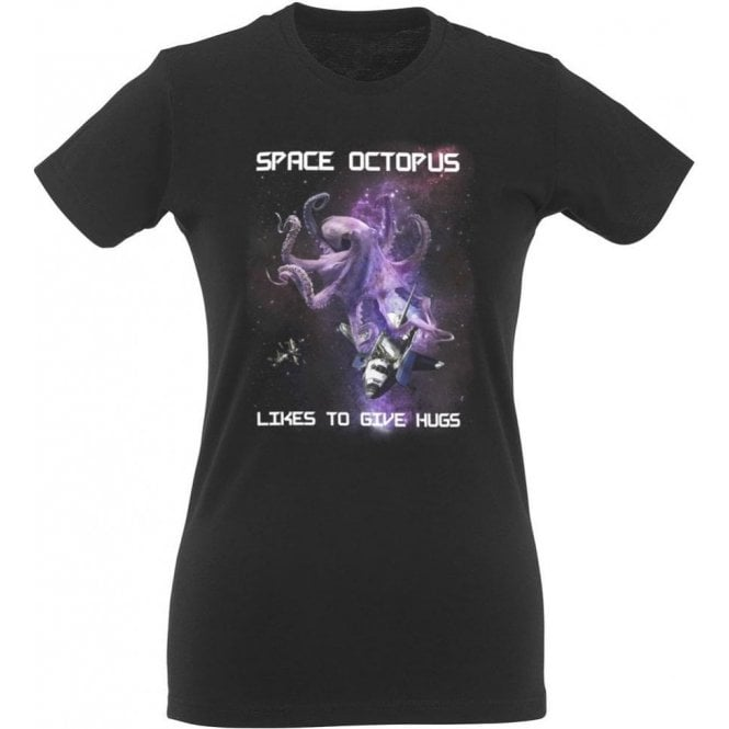Space Octopus Women's Slim Fit T-Shirt