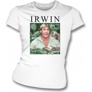 Steve Irwin Collage Womens Slim Fit T-Shirt