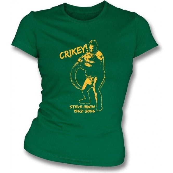 Steve Irwin Tribute Womens Slim Fit T-Shirt