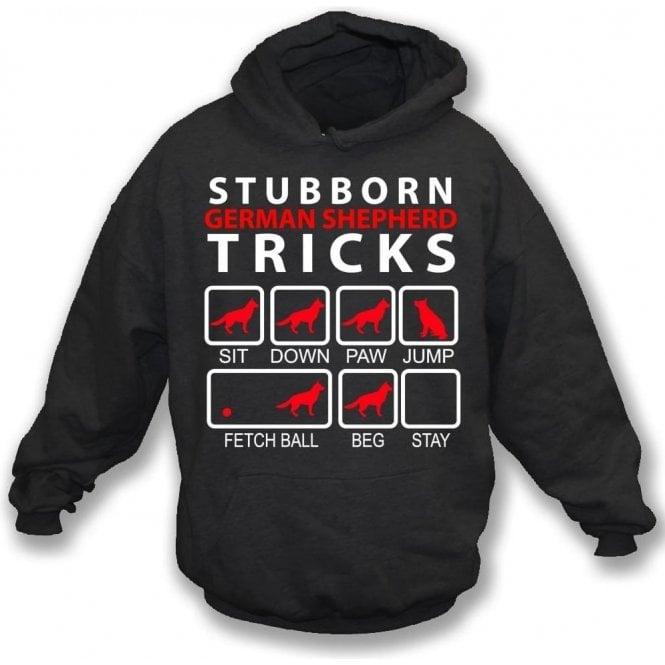 Stubborn German Shepherd Tricks Kids Hooded Sweatshirt