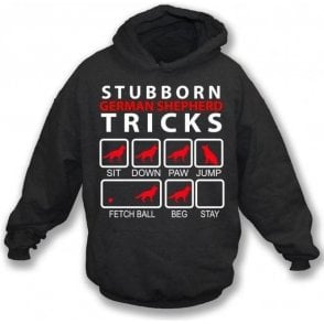 Stubborn German Shepherd Tricks Kids Hooded Sweatshirt