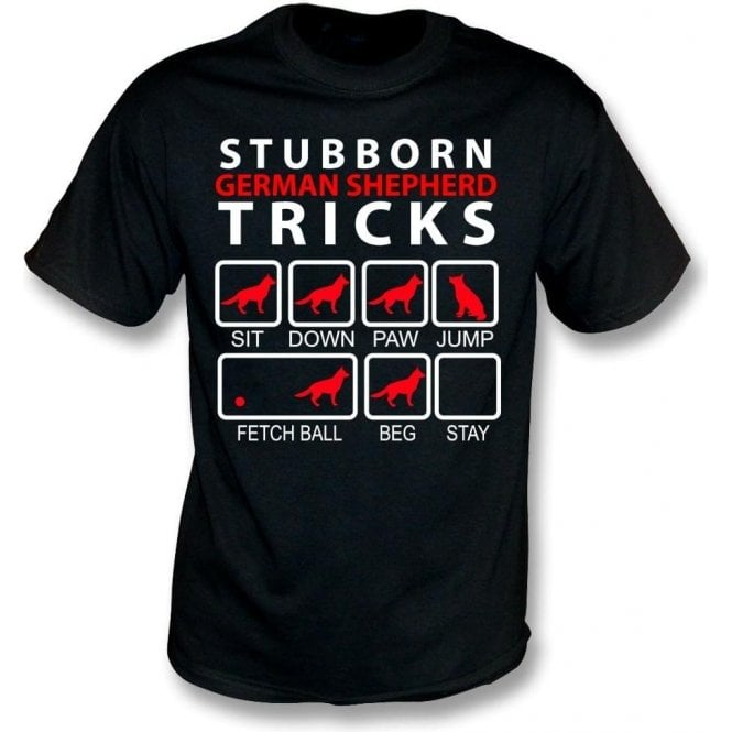Stubborn German Shepherd Tricks Kids T-Shirt