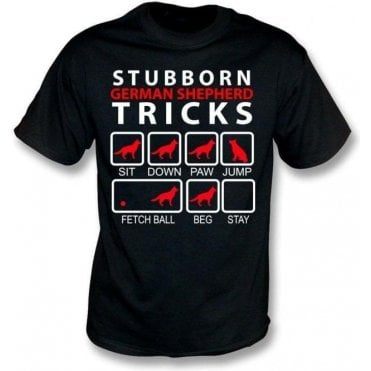 Stubborn German Shepherd Tricks Kids T-Shirt