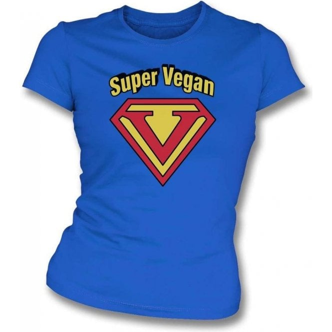 Super Vegan Womens Slim Fit T-Shirt