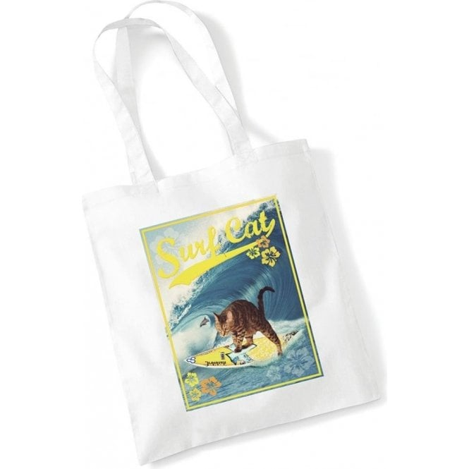 Surf Cat Long Handled Tote Bag