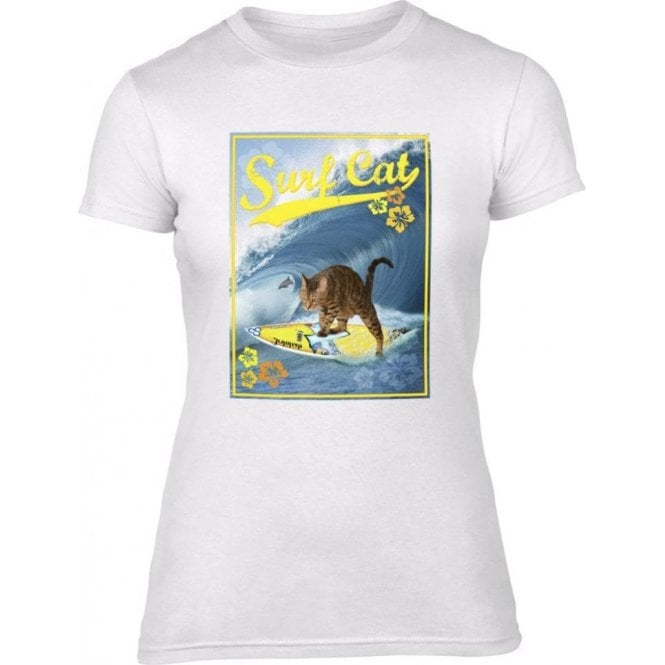 Surf Cat Women's Slim Fit T-Shirt