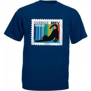 Swedish Cat Stamp Kids T-Shirt