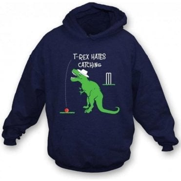 T-Rex Hates Catching Kids Hooded Sweatshirt