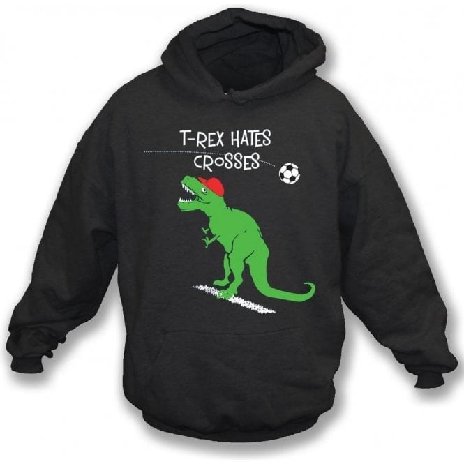 T-Rex Hates Crosses Kids Hooded Sweatshirt