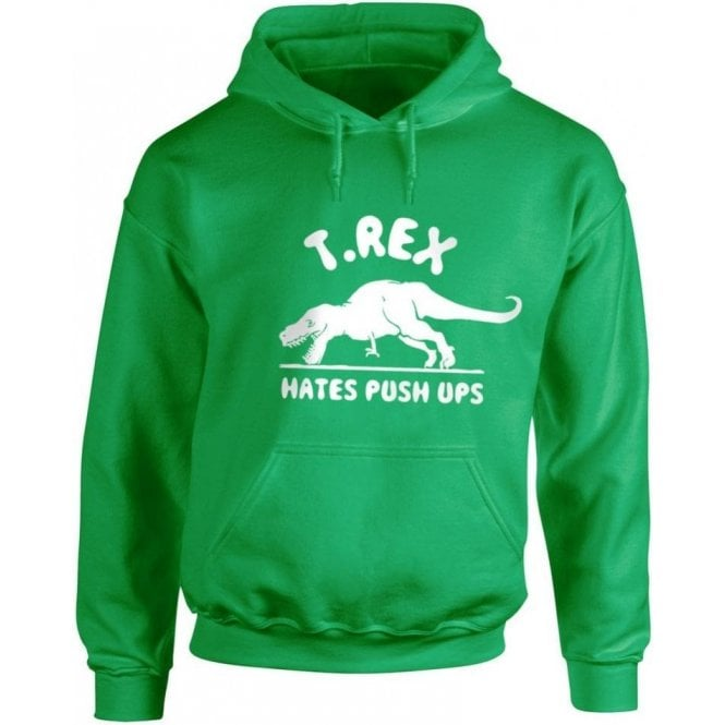 T-Rex Hates Push-Ups Kids Hooded Sweatshirt