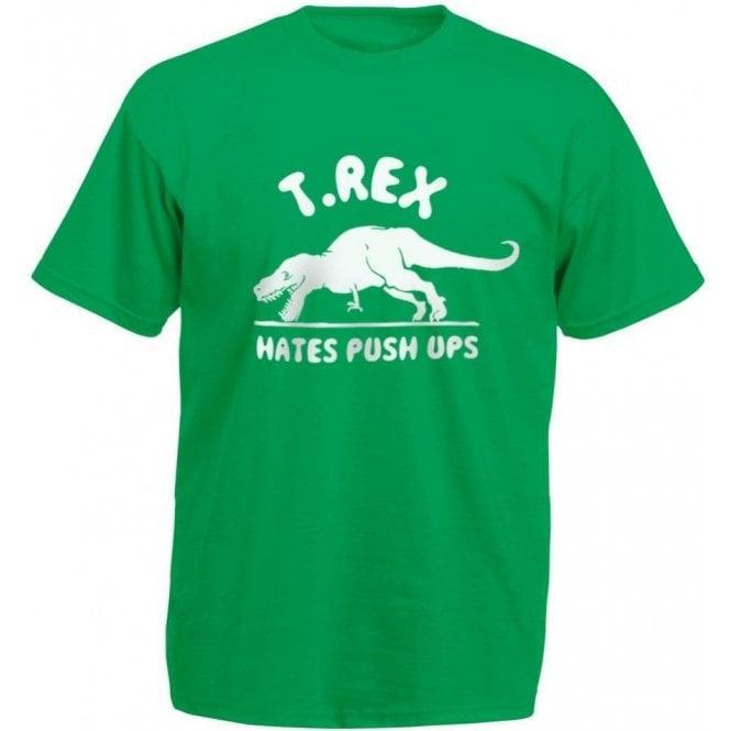 T-Rex Hates Push-Ups Kids T-Shirt