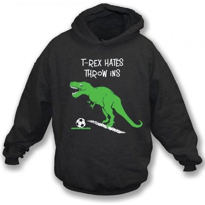 T-Rex Hates Throw Ins Kids Hooded Sweatshirt