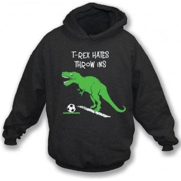 T-Rex Hates Throw Ins Kids Hooded Sweatshirt